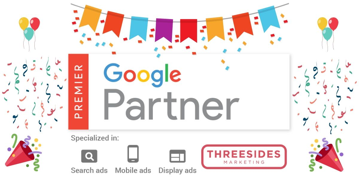 It's official! Threesides is a Google Premier Partner!