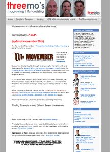 Movember – the threemos experience