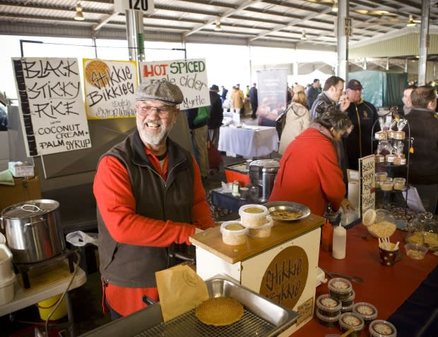 Hot food and warm people make Canberra's Farmers Market a real winter treat!