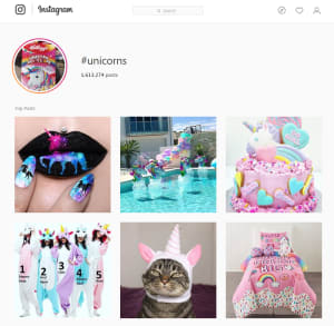 Hastag Unicorns Instagram