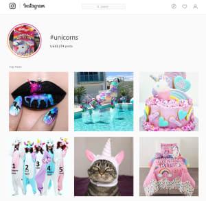 Hastag Unicorns Instagram