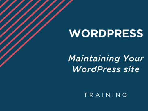WordPress: Maintaining Your WordPress Site