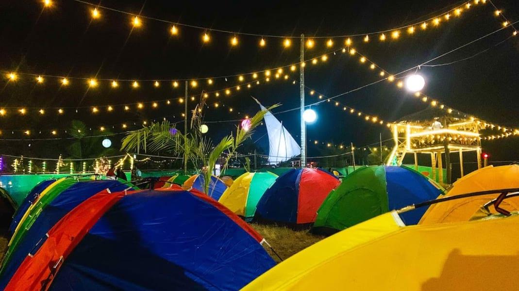 Alibaug Beach Camping Image