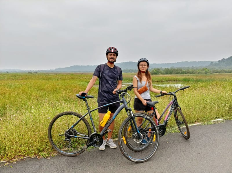 Island hopping and Cycling in Chorao and Divar Islands, Goa Image