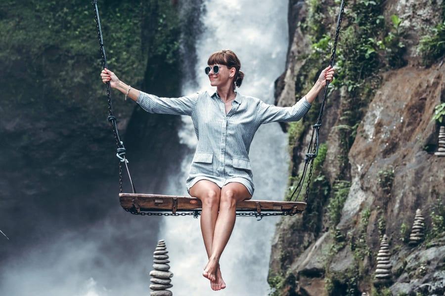 Bali Waterfall Tour with Bali Swing Image
