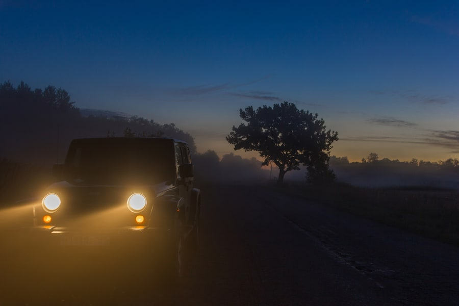 Night Mountain Drive In Coorg Image