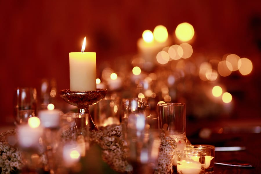 Candle Light Dinner In Mumbai Beach Image