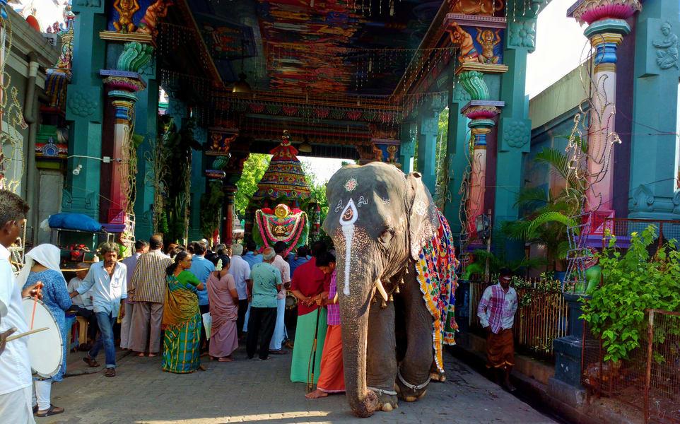 Shopping In Pondy Bazaar Image