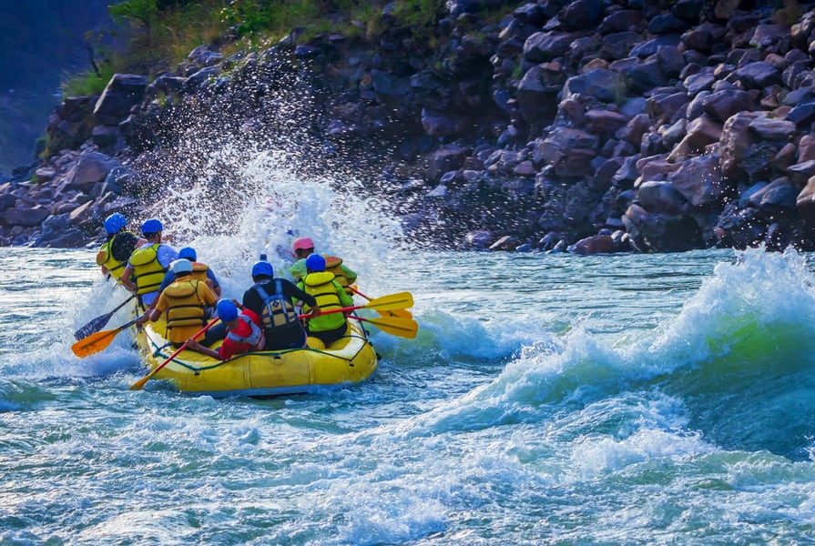 Stream Side Camping And Rafting In Rishikesh Image