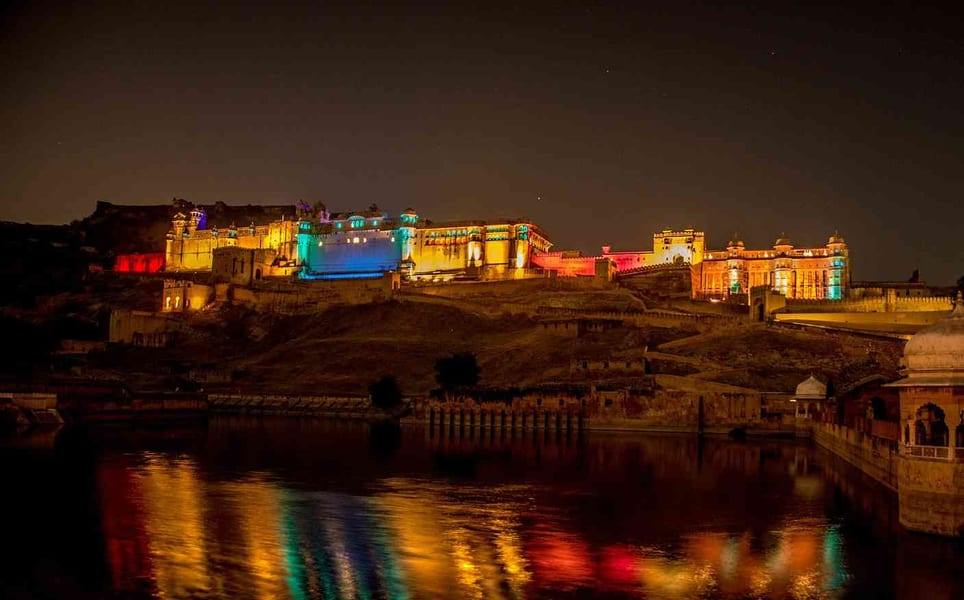Light And Sound Show At Amer With Dinner At Nahargarh Image