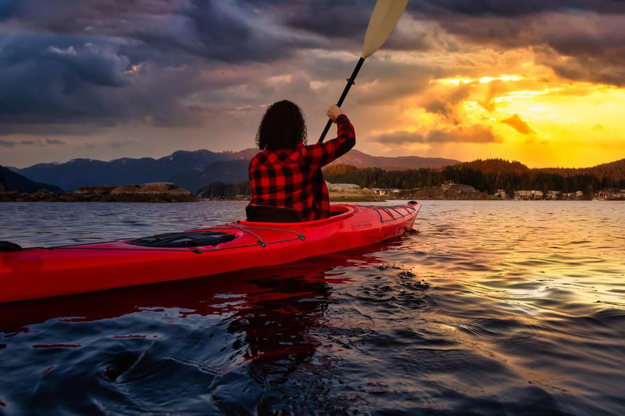 Kayaking In Goa's Baga Creek Image