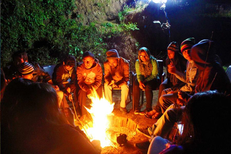 Nature Camping In Mawsynram Meghalaya Image