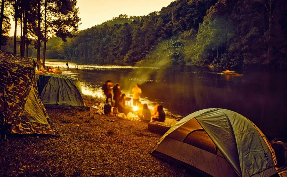 Riverside Camping In Sakleshpur, Chikmagalur  Image
