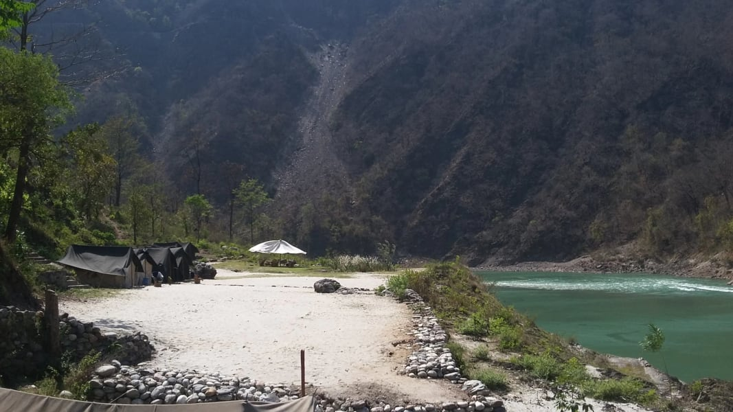 Camping At Ganga Rivera Image