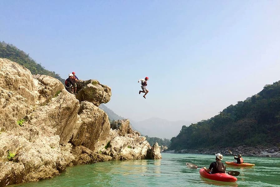Cliff Jumping In Rishikesh + Camping + Rafting Combo Image