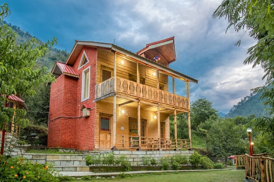 A Comfortable Getaway with River View in Tirthan Image