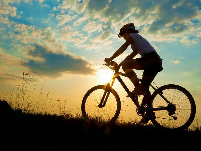 Biking At Divar Island In North Goa Image