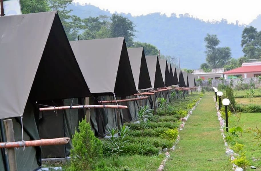 Beach Camping In Rishikesh With Rafting Image