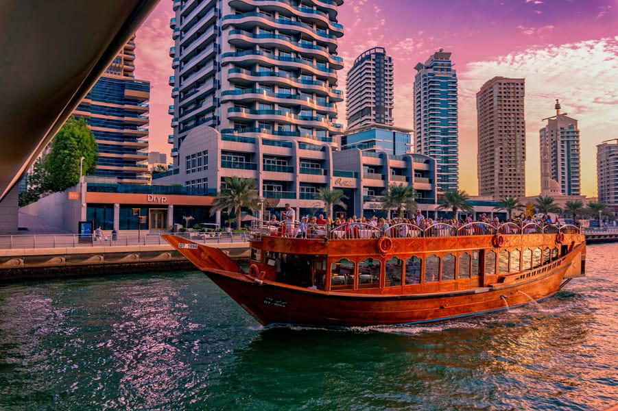 Private Dhow Cruise In Dubai Creek Image