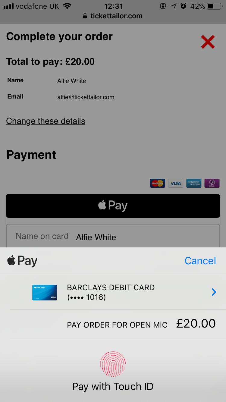 Apple Pay Stage 2
