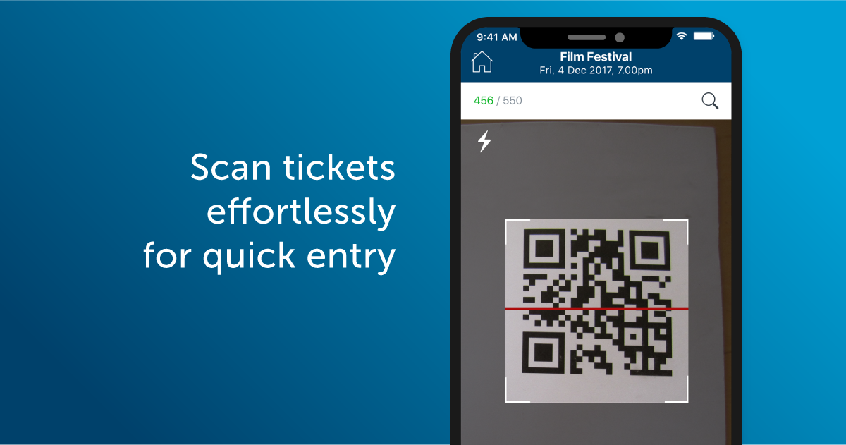 Scan tickets effortlessly for quick entry