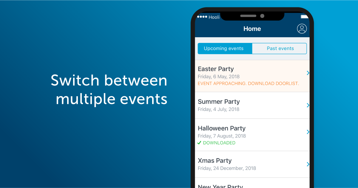 Switch between multiple events