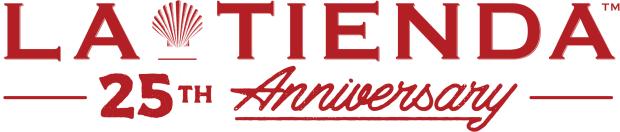 La Tienda logo - 25th anniversary