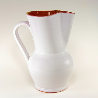 Cloud White Terra Cotta Sangría Pitcher