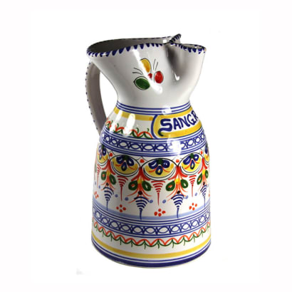 Hand-Painted Ceramic Sangría Pitcher