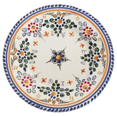 Tapas Plate, 'Flor' Design - 7 Inches