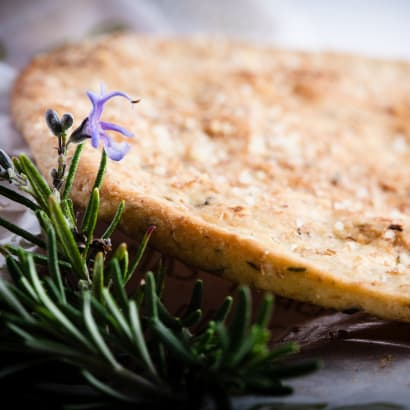 2 Packages of Rosemary & Thyme Tortas de Aceite Crisps by Ines Rosales