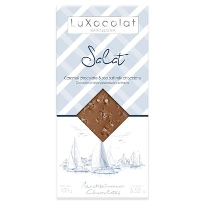 Caramel and Sea Salt Milk Chocolate Bar by Luxocolat