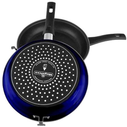 2-Piece Blue Tortilla Española Pan, Non-stick