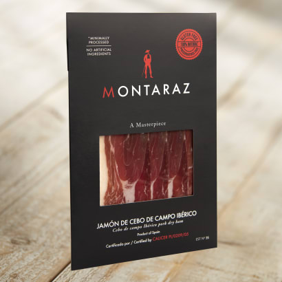 Sliced Ibérico Ham by Montaraz, Pasture Raised - 2 oz