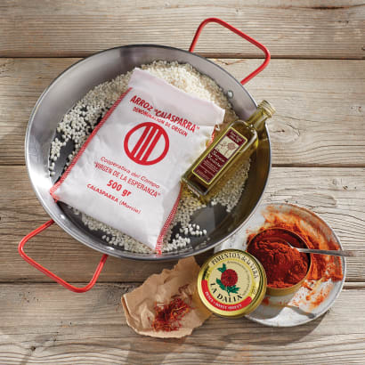 Mini Paella Kit with Pan in Gift Box by Peregrino