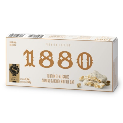 All Natural Crunchy Alicante Turrón Candy by 1880 - 5.3 Ounces