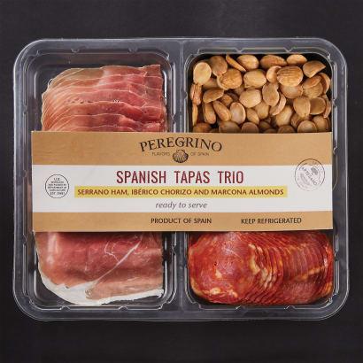 Tapas Tasting Tray with Jamón, Ibérico Chorizo and Almonds