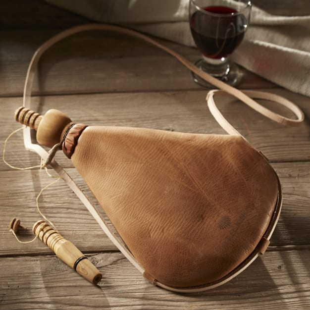 Image for Premium Bota Wineskin with Wooden Spout - Easy-Care Latex Liner