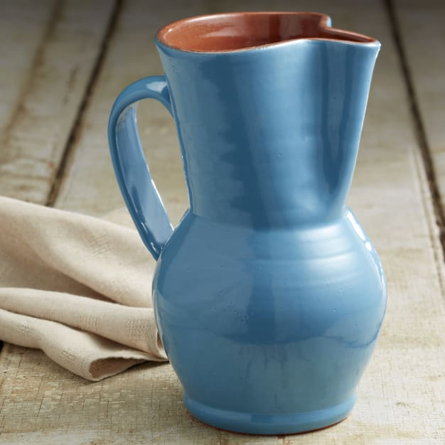 Image for Mediterranean Blue Terra Cotta Sangría Pitcher