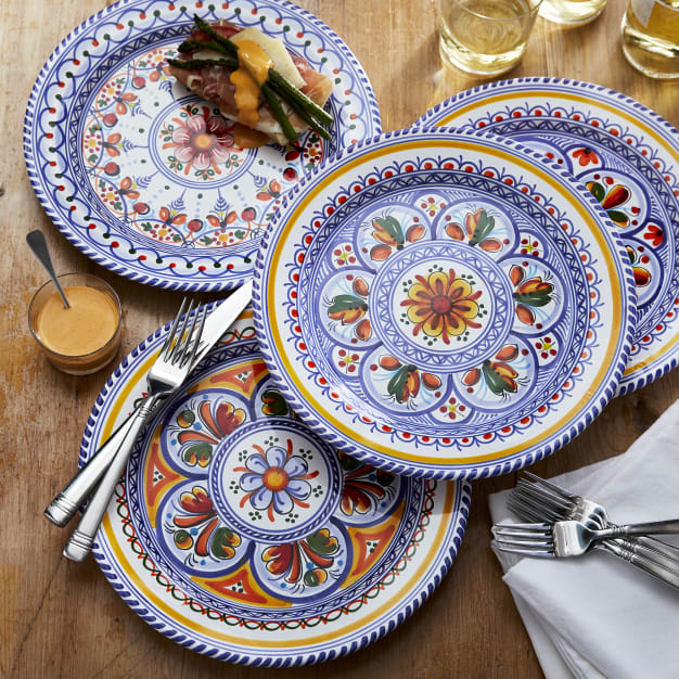 Image for Dinner Plate, Traditional Design - 11 Inches