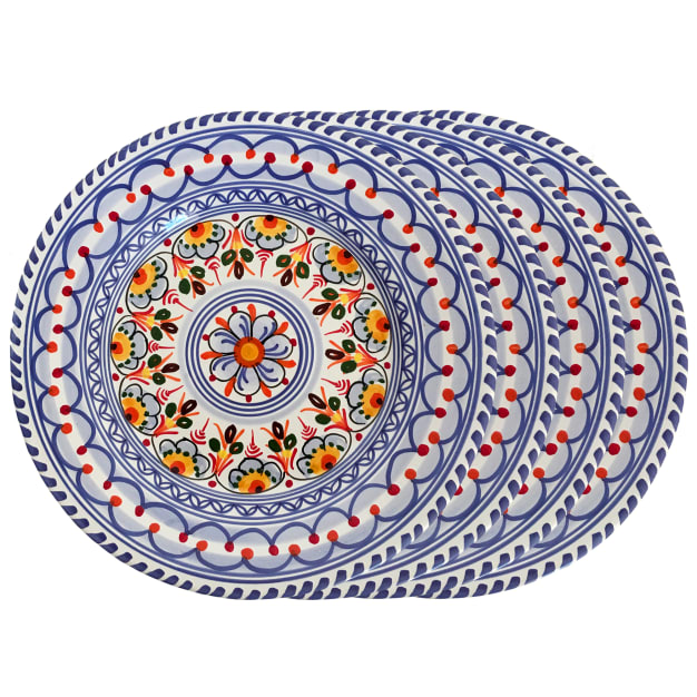 Image for Set of 4 Salad / Lunch Plates - Each 9.5 Inch