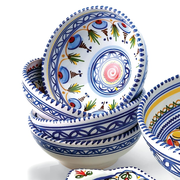 Image for Set of 4 Hand-painted Bowls - 6 Inch Diameter