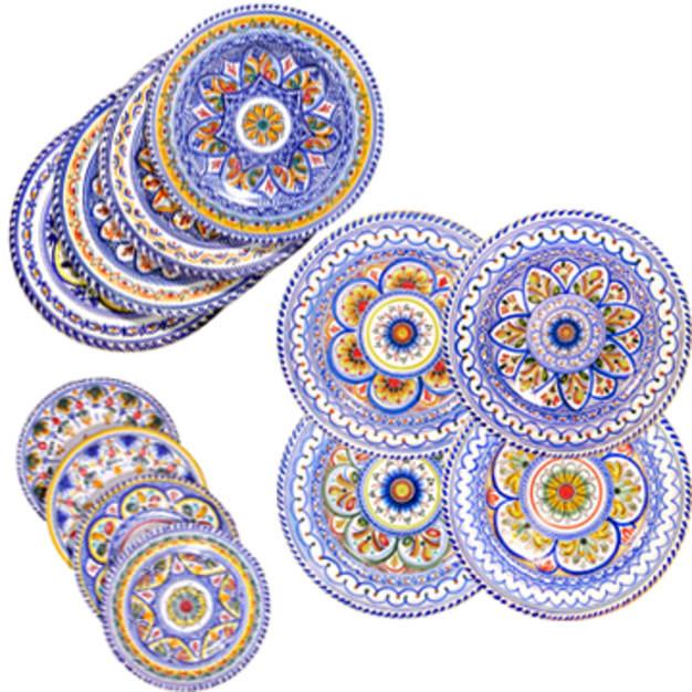Image for 12-Piece Set of Ceramic Plates