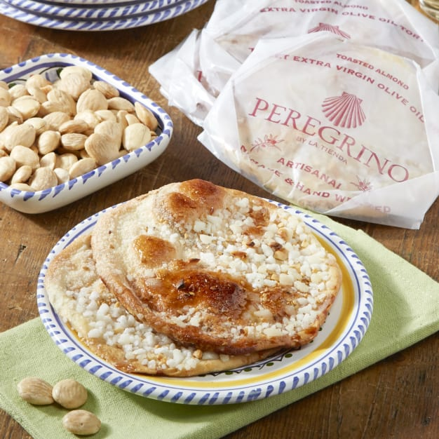 Image for 2 Packages of Toasted Almond Tortas de Aceite Crisps by Peregrino