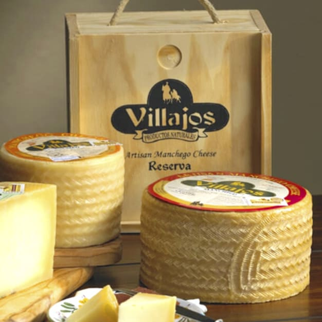 Image for Villajos 'Reserva' Manchego Cheese in Wooden Box - 4 Pounds