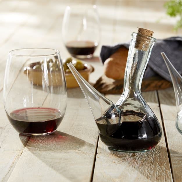Image for 2 Small Porrón Wine Pitchers - Holds One Glass of Wine