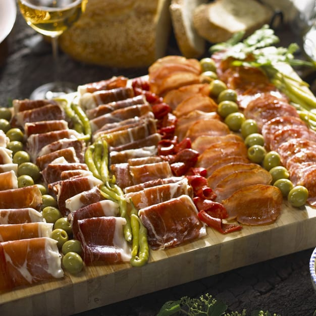 Image for Cured Meats of Spain Sampler Plus Olives and Peppers