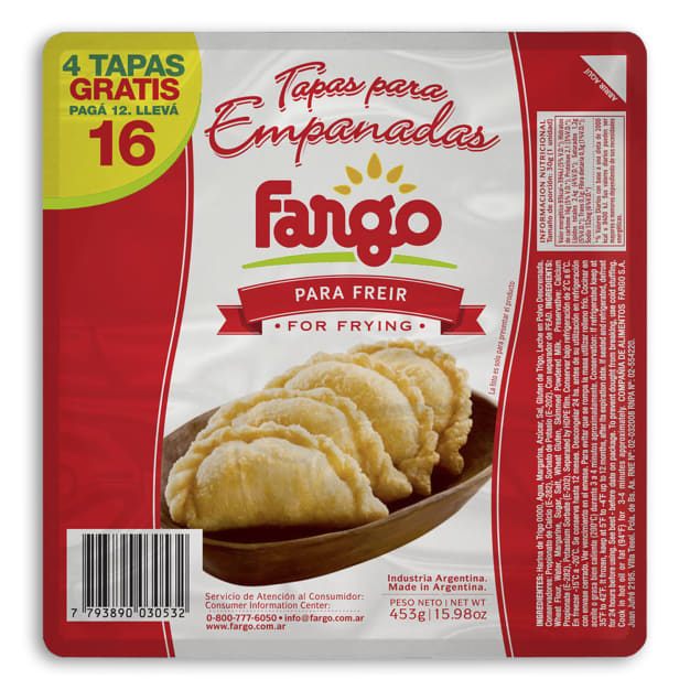 Image for 2 Packages of Empanada Shells for Frying