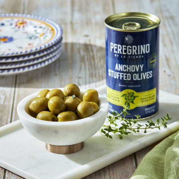 Image for 2 Tins of Anchovy Stuffed Olives by Peregrino - 'Extra' Quality