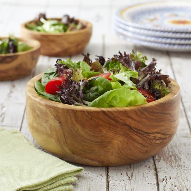Image for Large Olive Wood Salad Bowl